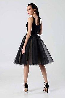 Šaty - Čierne s tylovou sukňou - 8988279_