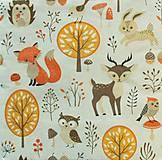 - S1093 - Servítky - líška, srnček, sova, vtáčik, ježko, les, strom - 8988841_