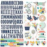 - Nálepky kartonové 30x30cm Simple Stories - POSH - 8989712_