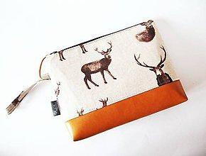 Taštičky - Toaletná taška veľká - jelene - 8991613_