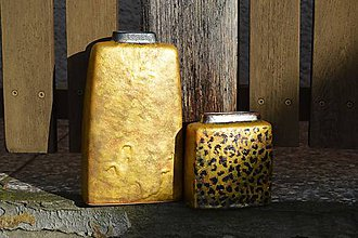 """Dekorácie - Váza zlatá """"safari"""" SET. - 8988991_"""