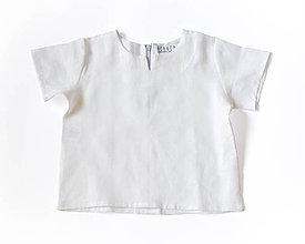 Detské oblečenie - Biela ľanová košieľka - 8990594_