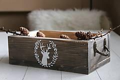 Nábytok - Debnička s maľovaným jeleňom - 8989528_