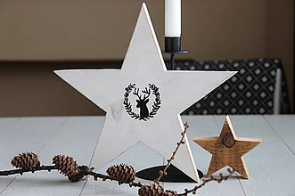 Dekorácie - Hviezda s jeleňom - 8988989_