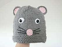 Detské čiapky - Detská čiapka Myška - 8988454_