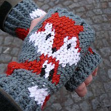 Rukavice - Rukavice líška - 8991097_