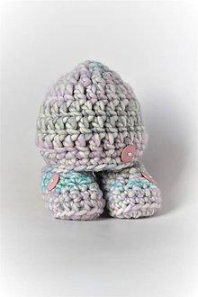 Detské čiapky - ...súpravička BABY GIRL - 8990863_