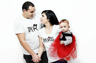 Tričká - Mr a Mrs - zaľúbené tričká pre pár - 8991110_