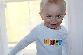 Detské oblečenie - Detské body s menom - 31 - 8991194_