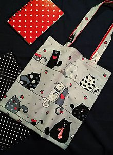 Nákupné tašky - Nákupná taška - mačičky - 8991860_