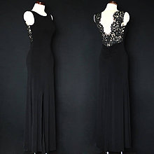 Šaty - Elastické spoločenské šaty s krajkovým chrbátom SKLADOM - 8989788  335fdc1a3a9