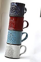 Nádoby - Čipkovaný pohár (Svetlá + Biela) - 8988189_