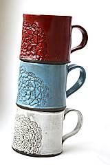 Nádoby - Čipkovaný pohár (Svetlá + Biela) - 8988190_
