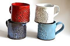 Nádoby - Čipkovaný pohár (Svetlá + Biela) - 8988191_