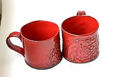 Nádoby - Čipkovaný pohár (Červená) - 8988226_