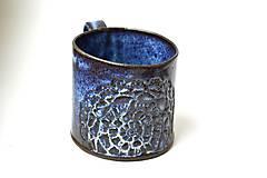 Nádoby - Čipkovaný pohár (Modrá) - 8988288_