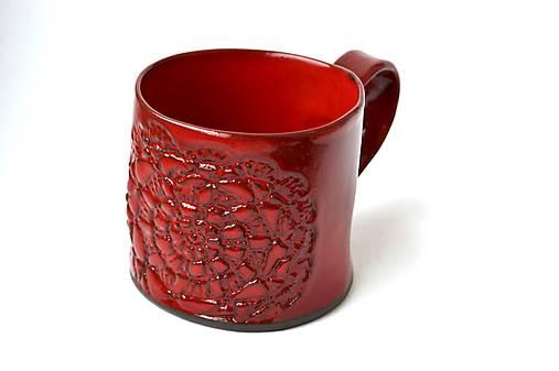 Čipkovaný pohár (Červená)