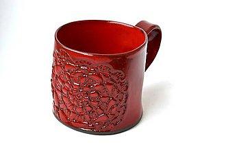 Nádoby - Čipkovaný pohár (Červená) - 8988225_
