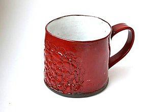 Nádoby - Čipkovaný pohár (Červená) - 8988238_