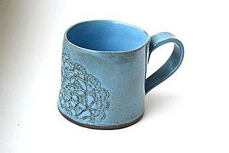 Nádoby - Čipkovaný pohár (Tyrkysová) - 8988259_