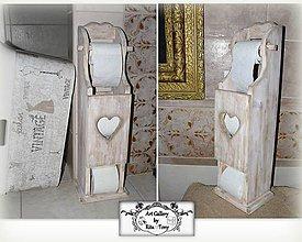 Nábytok - Vintage držiak na toaletný papier :) - 8991296_