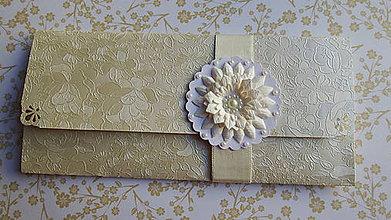 Papiernictvo - Svadobná obálka - perleť - 8988270_