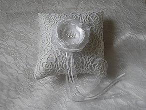 Prstene - Ivory  svadobný vankúšik - 8988798_