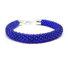 Náramky - SNAKE kráľovská modrá - výrazné korálkové náramky - 8988412_