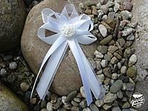 Pierka - Svadobné pierko veľké - biela & ivory - 8991220_