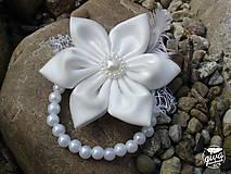Náramky - Náramok pre družičky - biela & ivory - 8991444_