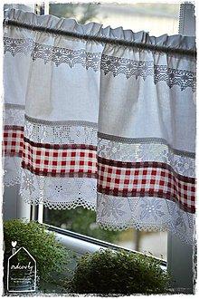 Úžitkový textil - Krátka záclonka/vitrážka - 8988455_