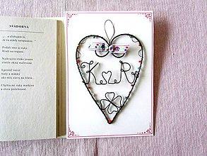 Papiernictvo - Svadobná pohľadnica - 8988092_
