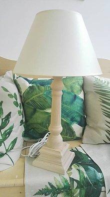 Svietidlá a sviečky - Lampa-podstavec štvorec masív, ihneď - 8991185_