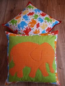 Úžitkový textil - Sloníkové vankušiky - 8993193_