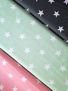 Textil - Bavlnená látka hviezdy (Ružová) - 8993433_