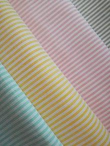 Textil - Bavlnená látka pásiky - 8993723_
