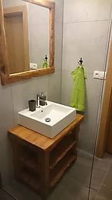 Nábytok - Stolík - skrinka pod umývadlo - NATURAL masív - 8993939_