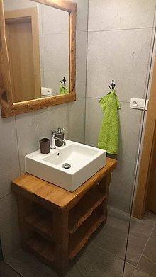 Nábytok - Stolík - skrinka pod umývadlo - NATURAL masív (BUK morený) - 8993939_