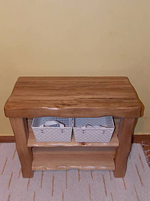 Nábytok - Stolík - skrinka pod umývadlo - NATURAL masív (DUB prírodný) - 8994000_