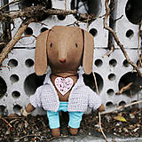 Bábiky - psík, čo nosí kľúčik k srdcu - 8995594_