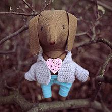 Bábiky - psík, čo nosí kľúčik k srdcu - 8995598_