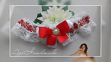 Bielizeň/Plavky - podväzok pre nevestu - 8993264_