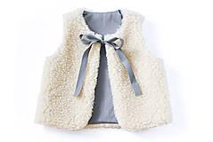 Detské oblečenie - Obojstranná merino vesta JUNO - 8992715_