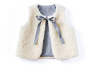 Detské oblečenie - Obojstranná merino vesta - 8992715_