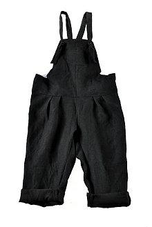 Detské oblečenie - Nohavice na traky čierne - 8993223_