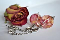 - Náušnice Ruža v guličke (2329 A CHO) - 8995045_