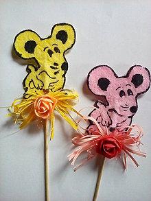 Dekorácie - Zápich myš - 8992637_