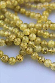 Minerály - Sagenit korálky 8mm (venušine vlasy) - 8995695_