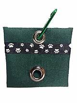 Zásobník na WC vrecká zelený