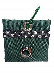 Pre zvieratká - Zásobník na WC vrecká zelený - 8995836_